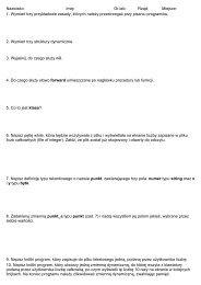 Zadania z kolokwium nr 2