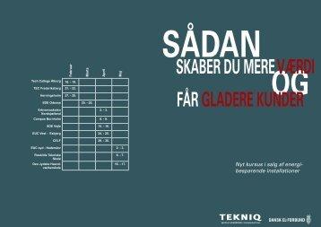 Nyt kursus i salg af energi- besparende installationer - Tekniq.dk