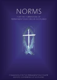Norms for the Formation of Permanent Deacons in Scotland