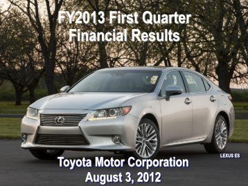 [PDF] FY2013 First Quarter Financial Results - Toyota