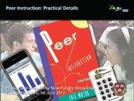 Peer Instruction: Practical Details - Eric Mazur