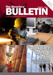 Workplace Safety & Health - Singapore Institute of Directors