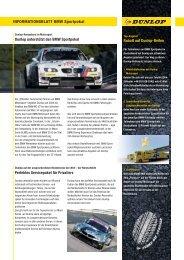 INFORMATIONSBLATT BMW Sportpokal Dunlop ... - BMW Motorsport