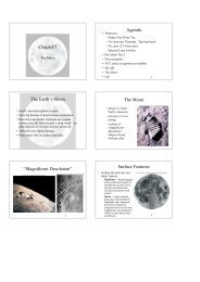 """Chapter 7 Agenda The Earth's Moon The Moon """"Magnificent ..."""