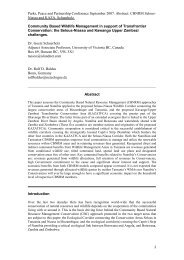 Selous-Niassa: CBNRM Models - wildlife-baldus.com