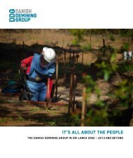 It's all about the people - Danish Demining Group