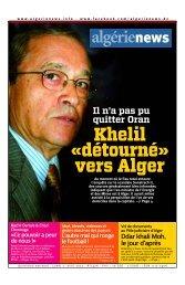 Mise en page 1 - Algérie news quotidien national d'information