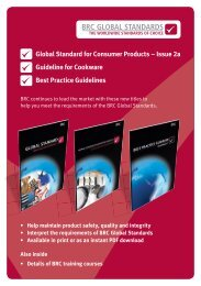 Global Standard for consumer Products – Issue 2a Guideline for ...