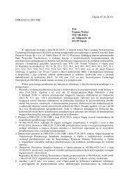 Pismo UM w Opolu z 07 03 2013 - STE Silesia