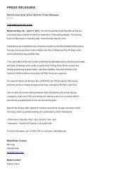 PRESS RELEASES - Marina del Rey