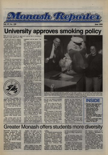 University approves smoking policy - Adm.monash.edu - Monash ...