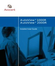 AutoView® 1000R AutoView® 2000R - FTP Directory Listing - Avocent