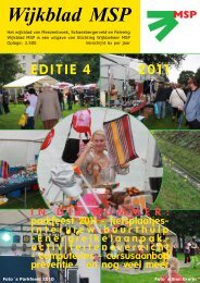 Wijkblad St. Wijkbeheer MSP, ed 4, 2011 - Mijn MSP