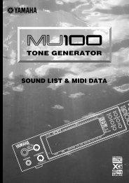 TONE GENERATOR SOUND LIST & MIDI DATA - Yamaha