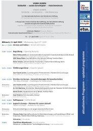 aktualisiertes Programm - Friedrich Ebert Stiftung