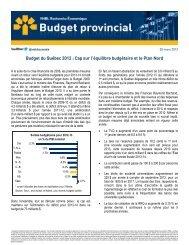 Budget du Québec 2012 : Cap sur l'équilibre budgétaire et ... - VMBL