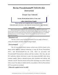 Bovine Procalcitonin(PCT)ELISA Kit - MyBioSource