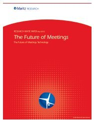 The Future of Meetings Technology - Maritz Research