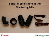 Canon & Switched On Media - The PR Report
