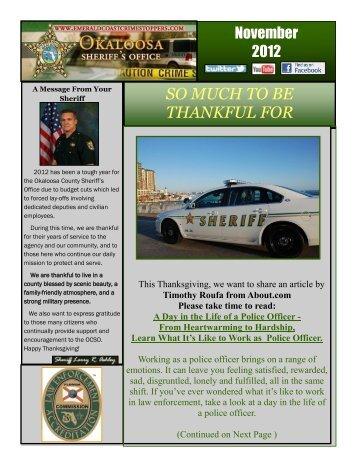 Nov. 19 - November 2012 Newsletter - Okaloosa County Sheriff's ...