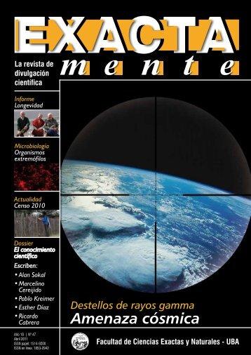 Amenaza cósmica - Facultad de Ciencias Exactas y Naturales