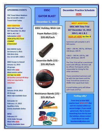 EBSC GATOR BLAST December 5, 2012 - TeamUnify