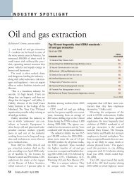 Oil and gas extraction - TexasMutual