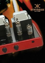 15W Integrated Stereo Tube Amplifier - SYNTHESIS Art In Music