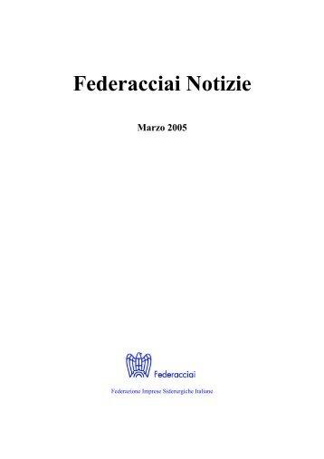 Federacciai Notizie Marzo 2005