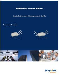 ORiNOCO® Access Points Installation and Management Guide ...