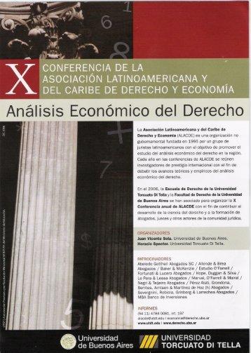 Analisis Economico del Derecho - Alacde