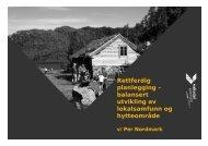 Rettferdig planlegging – balansert utvikling av lokalsamfunn og ...