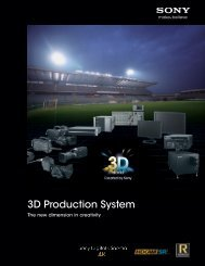 3D Production System - Sony