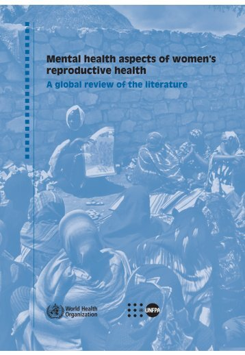 Mental health aspects of women's reproductive health