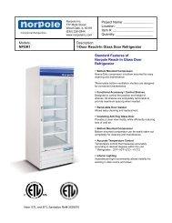 1-Door Reach-In Glass Door Refrigerator