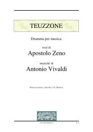 TEUZZONE Apostolo Zeno Antonio Vivaldi - Fulmini e Saette