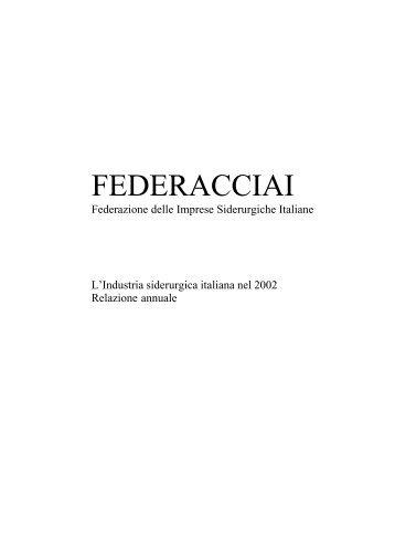 Relazione Annuale - Federacciai