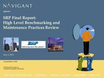 SRP Final Report: High Level Benchmarking and ... - Salt River Project