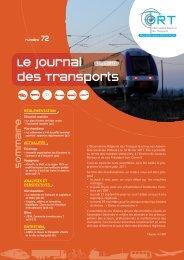 Le journal des Transports - L'observatoire régional des transports