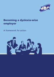 Becoming a dyslexia-wise employer