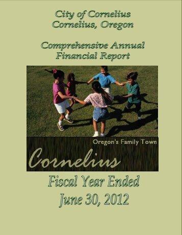 (CAFR) FY2011-2012 - Cornelius