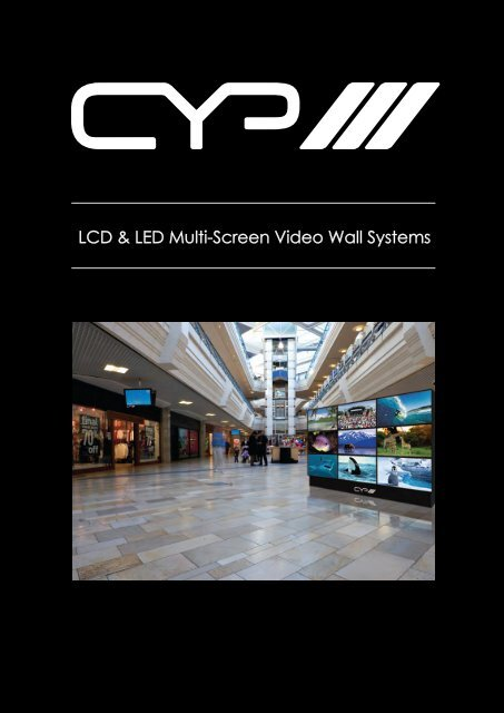 LCD & LED Multi-Screen Video Wall Systems - CIE-Group