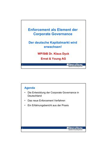 Dr. Klaus Dyck (Ernst & Young, 15.11.2006) - wuestemann