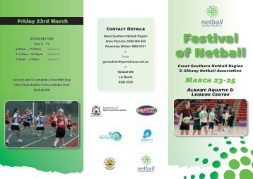 Festival of Netball - Great Southern Grammar