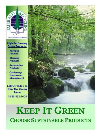 Green Products Brochure