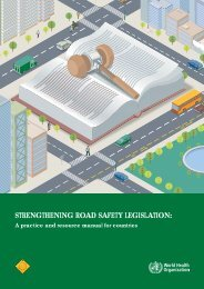 strengthening road safety legislation - World Health Organization