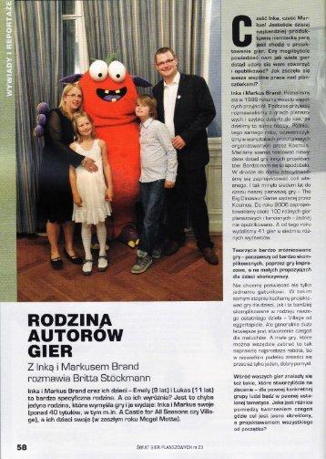 RODZINA AUTOROW GIER - Inka und Markus Brand