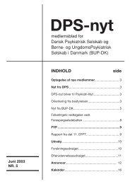 DPS Nyt nr 5, juni 2003 - Dansk Psykiatrisk Selskab