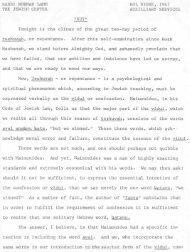 RABBI NORMAN LAMM KOL NIDRE, 1967 THE JEWISH CENTER ...