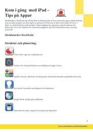 Kom i gång med iPad - Tips på Appar - Pedagog Stockholm